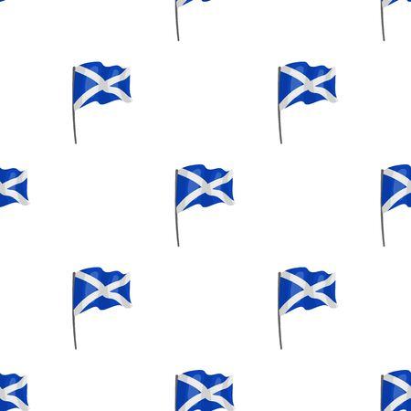 Großartig Schottland Flagge Farben Zeitgenössisch ...
