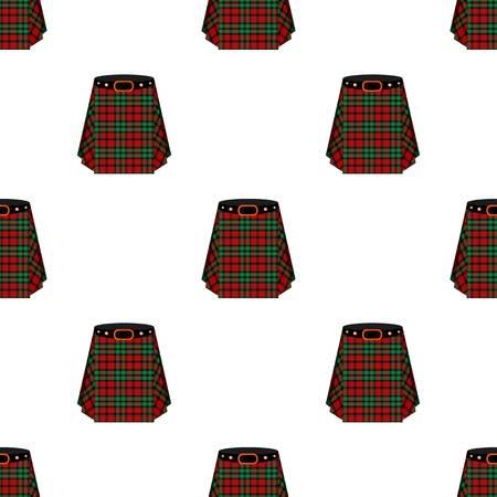 Scottish tartan kilt.The mens skirt for the Scots.Scotland single icon in cartoon style vector symbol stock illustration.