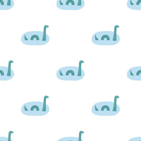 Loch Ness Monster Pictogram In Cartoon Stijl Gesoleerd Op Een Witte