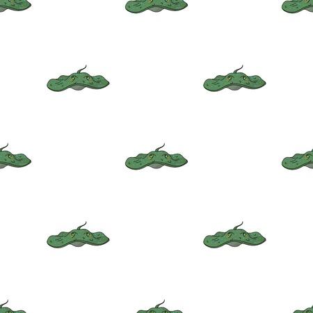 Stingray icon in cartoon style isolated on white background. Sea animals symbol stock vector illustration. Illusztráció