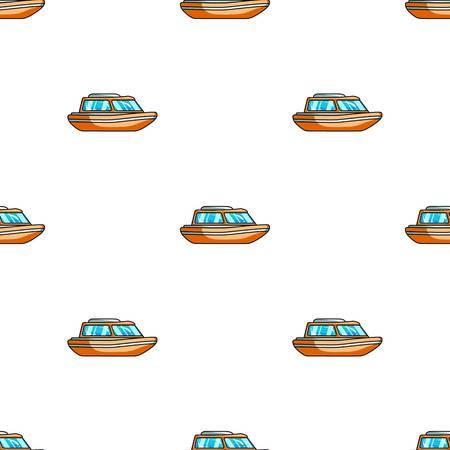 Bateau de sauvetage orange. Bateau pour sauver la noyade persons.Ship et transport de l'eau seule icône illustration stock symbole de vecteur de style dessin animé. Vecteurs