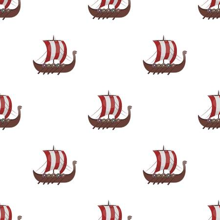 Vikingen verzenden pictogram in cartoon stijl geïsoleerd op een witte achtergrond. Vikingen symbool voorraad vectorillustratie