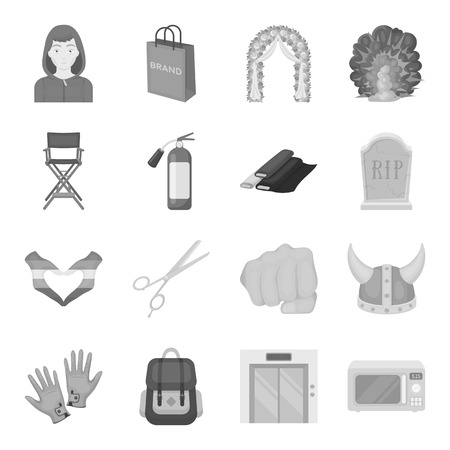 armchair shopping: Wedding, atelier, shopping and other web icon in monochrome style. Equipment, Service, hotel icons in set collection.