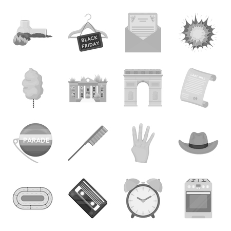 hangers: Security, sport, trade and other web icon in monochrome style.Service, electrical appliance, ritual icons in set collection. Illustration