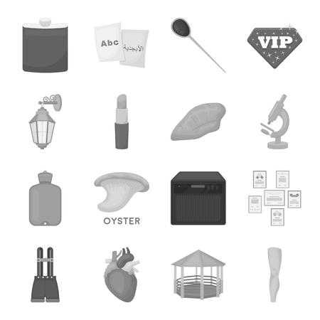 Entertainment, gezondheid, onderwijs en andere web-pictogram in zwart-wit stijl. Body, kunst, geneeskunde pictogrammen in set collectie.
