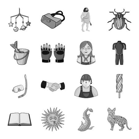 cat suit: river, lynx, cat and other  icon in monochrome style.animal, tourism, recreation icons in set collection.