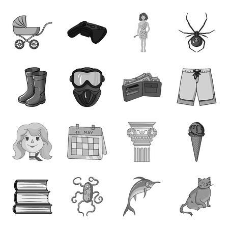 killer whale, dolphin, sea and other web icon in monochrome style. recreation, entertainment, tourism icons in set collection.