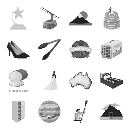 Wedding, transport, space and other icon in monochrome style.Rails, furniture, sports icons in set collection.