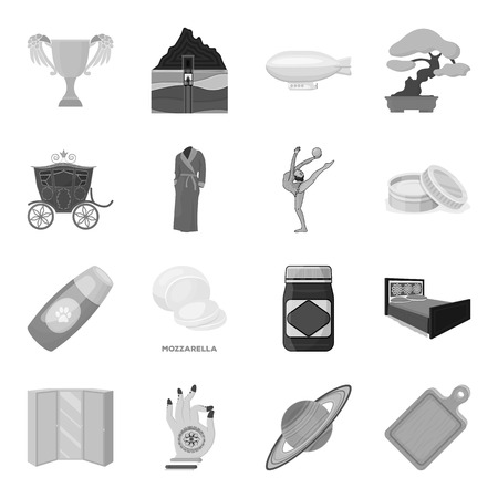 kitchen cabinets: Transportation, mine, space and other  icon in monochrome style.Furniture, sport, wedding icons in set collection.
