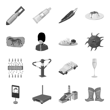 cottage cheese: Mongolia, transport, alcohol, army and other web icon in monochrome style. Dentistry, mexico, food icons in set collection.