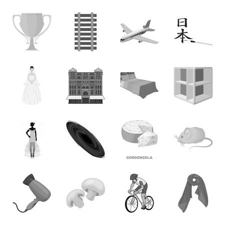 Transportation, mine, space and other web icon in monochrome style.Furniture, sport, wedding icons in set collection.
