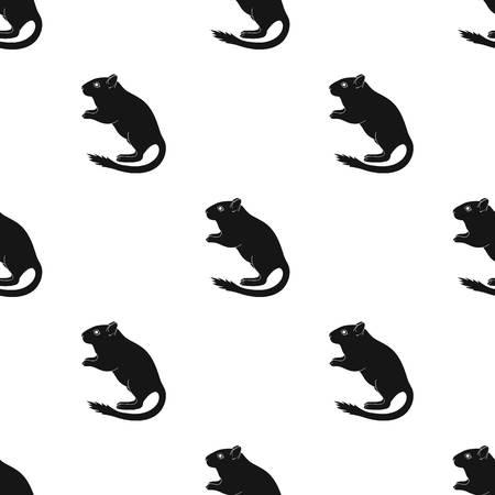 Grey gerbil.Animals unique icône en noir style vecteur symbole stock illustration web. Vecteurs