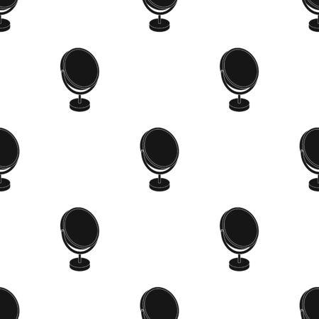 glass reflection: Desk mirror.Barbershop single icon in black style vector symbol stock illustration web. Illustration