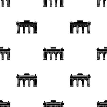 The Belgian arch monument.The dark Belgian wolf. Belgium single icon in black style vector symbol stock illustration.
