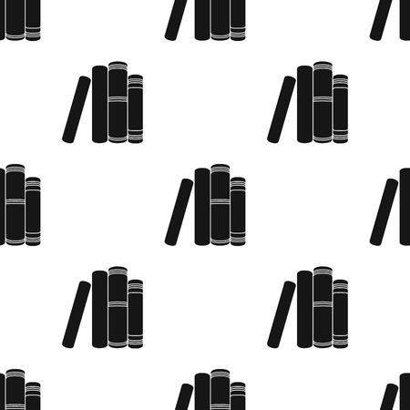 흰색 배경에 고립 된 검은 스타일에 서 서 아이콘. 책 기호 주식 벡터 일러스트 레이 션.
