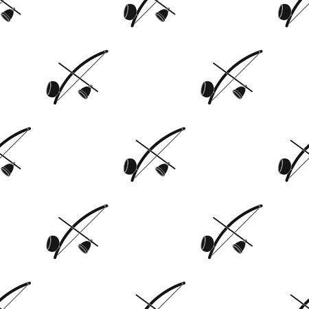 Berimbau icon in black style isolated on white background. Brazil country symbol stock vector illustration.