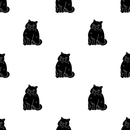 Exotic Shorthair icon in black style isolated on white background. Cat breeds symbol stock vector illustration.
