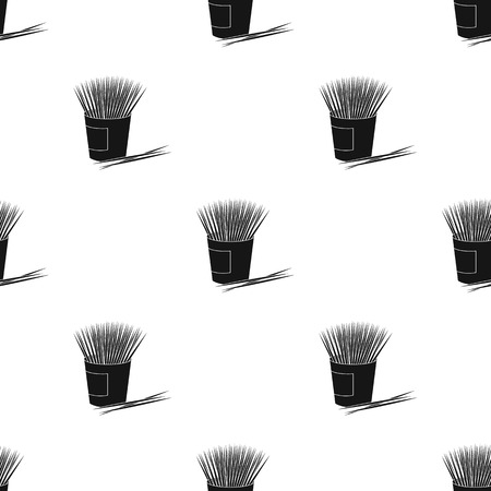 Toothpicks icon in black style Ilustrace