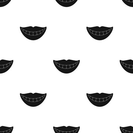 Glimlach met witte tanden