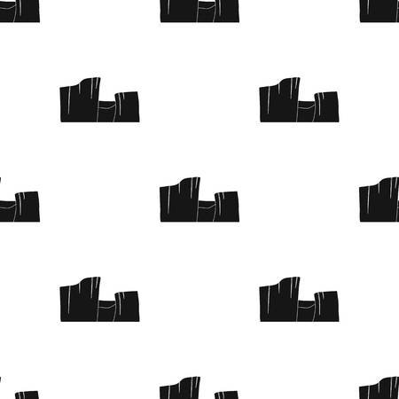 Rectangular high mountains icon in black style vector symbol stock illustration.