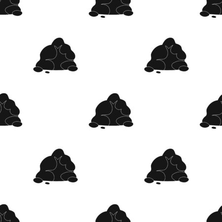 Mountain that consists of a large number of small stones.Single icon in black style vector symbol stock illustration.