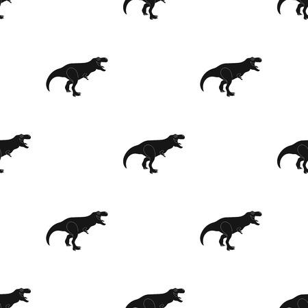 Dinosaur Tyrannosaurus icon in black design isolated on white background. Dinosaurs and prehistoric symbol stock vector illustration.