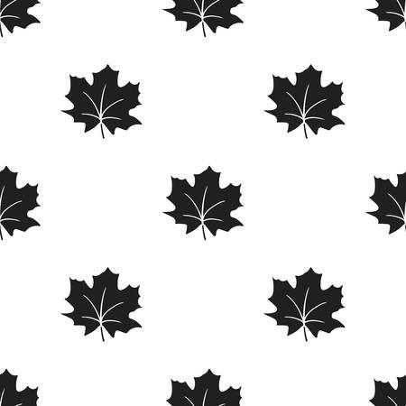 Maple Leaf vector illustration icon in black design