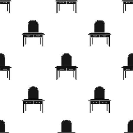 Toilettafel patroon vectorillustratie. Stock Illustratie