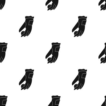흰색 배경에 고립 된 검은 스타일에 골프 공 아이콘의 배치. 골프 클럽 기호 벡터 일러스트 레이 션.