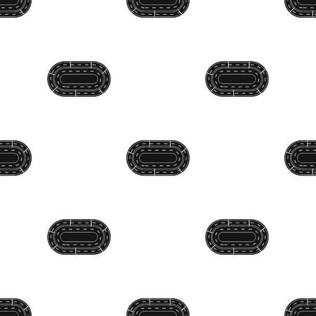 Hippodrome icon in black style isolated on white background. Hippodrome and horse symbol stock vector illustration. Illustration