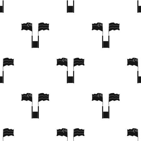 白い背景で隔離の黒のデザインのロシアと中国のフラグ アイコン。翻訳・通訳株式ベクトル図のシンボルです。  イラスト・ベクター素材