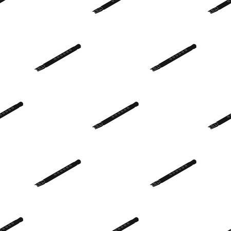 Icono de flauta de madera en diseño negro aislado sobre fondo blanco. Instrumentos musicales símbolo stock ilustración vectorial.