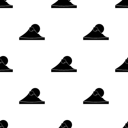 Mountain icon in black style isolated on white background. vector illustration.