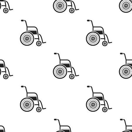 Wheelchair icon black. Single medicine icon from the big medical, healthcare black.