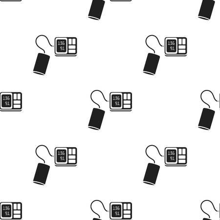 Tonometer icon black. Single medicine icon from the big medical, healthcare black. Illustration
