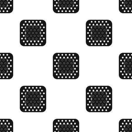 Medische gips.Medicine enkele pictogram in zwarte stijl vector symbool stock illustratie. Stock Illustratie