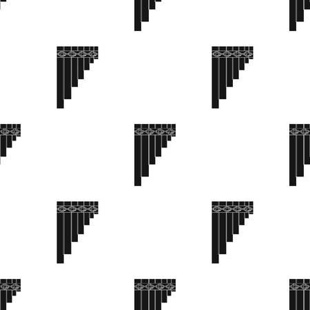 Icono mexicano de la flauta de la cacerola en estilo negro aislado en el fondo blanco. Ilustración del vector del símbolo del país de México. Vectores