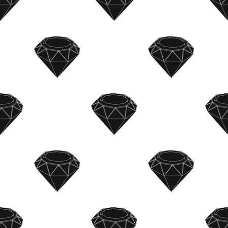 Diamond icon in black design isolated on white background. Precious minerals and jeweler symbol stock vector illustration.