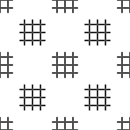 Gitter in der Zelle des Gefangenen. Eine Metalltür zu halten criminals.Prison einzigen Symbol in schwarz Stil Vektor Symbol stock Web Illustration. Standard-Bild - 83676779