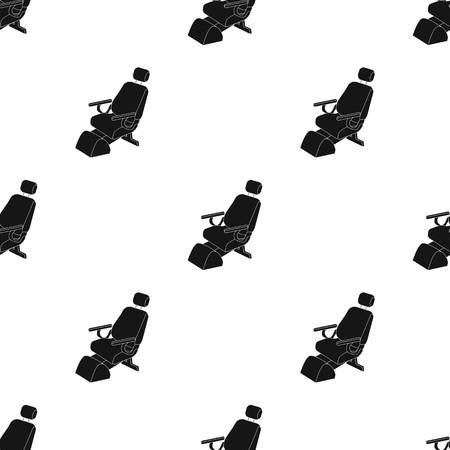 Dentist chair. Medicine single icon in black style vector symbol stock illustration .