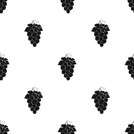 concord grape: Bunch of wine grapes icon in black design isolated on white background. Spain country symbol stock vector illustration. Illustration