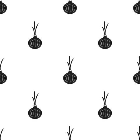 Onion icon black. Singe vegetables icon from the eco food black. Illustration