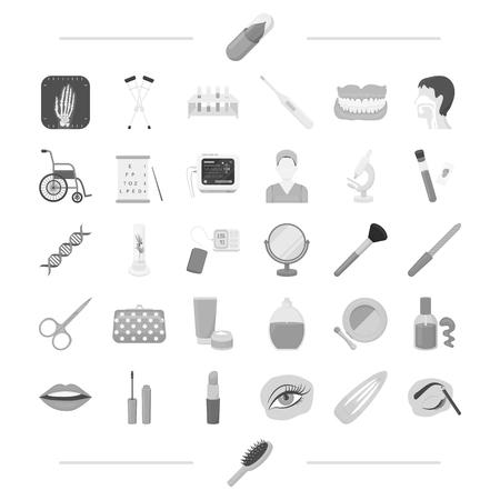 Aporatoire, cosmétologie, maquillage et autre icône web dans monochrome style.pencil, peigne, icônes de la médecine dans la collection de l'ensemble. Banque d'images - 84399351