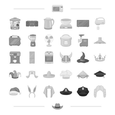 apparatuur, huis, electro en andere web pictogram in zwarte stijl., hoofd, kleding, techniek pictogrammen in set collectie.