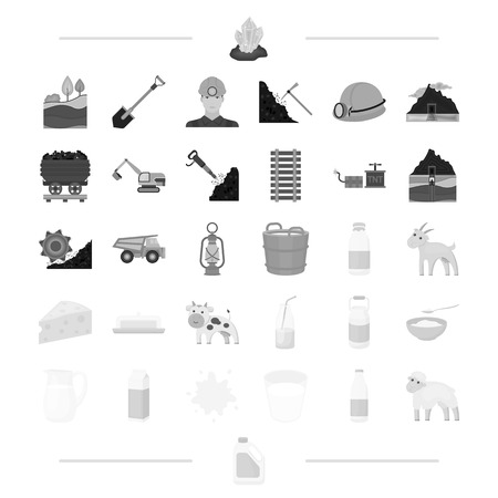 milk products, animals and other web icon in black style.stain, sheep, canister, icons in set collection.