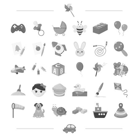 technology, leisure, business and other  icon in black style. car, toys, entertainment, icons in set collection.