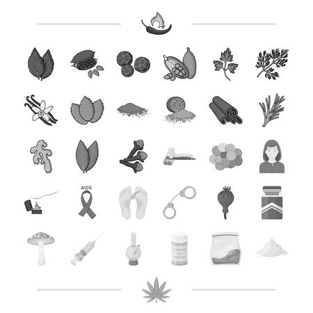 spices, business, hobbies and other web icon in black style.sore, addiction, problems, icons in set collection.