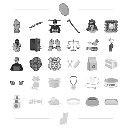 scale of justice: animals, protection, business and other web icon in black style. law, Veterinary clinic, icons in set collection.