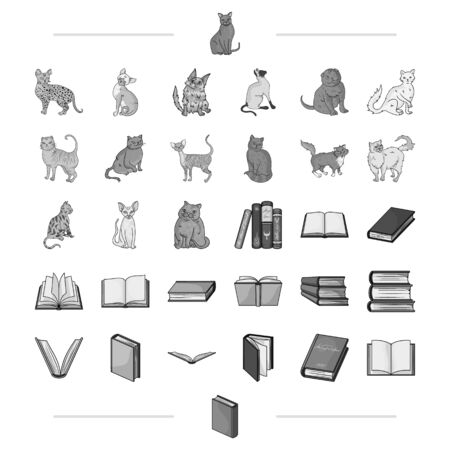 Archive, science, business and other web icon in monochrome style.home, library, shop, icons in set collection. Illustration