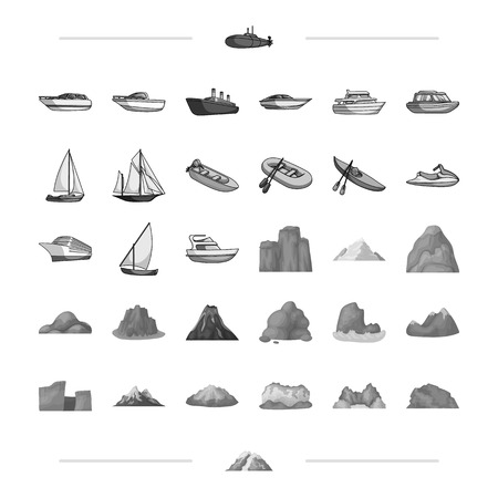 phenomenon, snow, icing and other web icon in monochrome style.t, tourism, volcano, natural, icons in set collection.